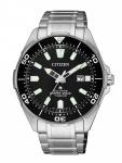 Citizen BN0200 Promaster Eco-Drive Taucheruhr Uhr Titan Datum Silber