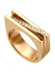 Esprit ESRG00182217 Damen Ring Luna Edelstahl Gold Weiß 53 (16.9)