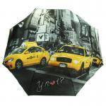 Y Not 55544 Super Mini City New York Grau-Gelb Taschenschirm