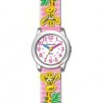JACQUES FAREL HCC3138 Dschungeltiere Uhr Mädchen Kinderuhr Textil bunt