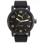 Puma PU104141008 ALTERNATIVE ROUND Uhr Herrenuhr Silikon schwarz