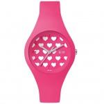 Ice-Watch ICE love Pink Heart Small Uhr Damenuhr Silikon pink