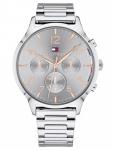 Tommy Hilfiger 1781871 EMMY Uhr Damenuhr Edelstahl Datum Silber