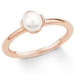 s.Oliver 2018591 Damen Ring Sterling-Silber 925 Rose Weiß 54 (17.2)