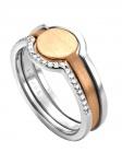 Esprit ESRG00301218 Damen Ring Fuse Ring Bicolor Rose Weiß 56 (17.8)