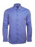 Eterna Herren Hemd Langarm Modern Fit Hemden 8504/15/X19P Blau XL/44