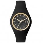 Ice-Watch ICE GLITTER Black Unisex Uhr Damenuhr Silikon schwarz
