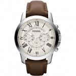 Fossil FS4735 Chronograph Uhr Herrenuhr Lederarmband Datum Braun