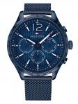 Tommy Hilfiger 1791471 Chronograph Uhr Herrenuhr Edelstahl Datum Blau