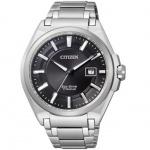 Citizen BM6930-57E Eco Drive Uhr Herrenuhr Titan Datum schwarz
