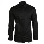 Eterna Herrenhemd Langarm 8424/39/F182 Hemd Slim Fit Schwarz XL/43
