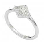 Fossil JFS00377 Damen Ring Silber Zirkonia 53 (16.9)
