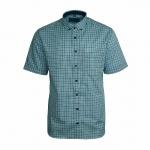 Eterna Herrenhemd Kurzarm Modern Fit Blau Weiß kariert Hemd XL/44