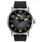 Puma PU104141002 Alternative Round Uhr Herrenuhr Silikon schwarz