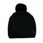 Esprit Fancy Knit Beanie Schwarz Strick Mütze OneSize 117EA1P010-E001
