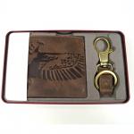 Fossil Geldbörse Eagle Gift Coin Pocket Box Braun ML3835-200 Herrenset