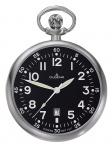 DUGENA 4288289-1 Taschenuhr Lepine mit Kette Uhr Datum schwarz