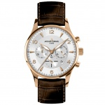 Jacques Lemans 1-1654H LONDON Chronograph Uhr Herrenuhr Leder braun
