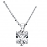 Basic Silber 21.EX658W.1 Damen Collier Silber Zirkonia weiß 42 cm