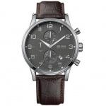 Hugo Boss 1512570 Herrenuhr Lederarmband Uhr Datum Chronograph braun