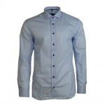 Eterna Herrenhemd 8585/10/F182 Langarm Hemd Slim Fit Blau S/38