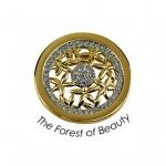 Quoins QMOA-49S-G Damen Münzen The Forest of Beauty small S gold