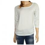 Only Damen Shirt 3/4 Arm 15098814 Hella 3/4 O-Neck Top ESS Blau M