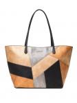 Desigual Damen Handtasche Tasche Shopper Ares Capri Zipper Mehrfarbig