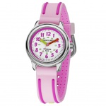 JACQUES FAREL KTI3333-G Uhr Mädchen Kinderuhr Silikon rosa