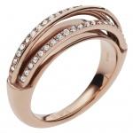 Emporio Armani EGS2198221510 Damen Ring Edelstahl Rose Weiß 60 (19.1)