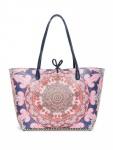 Desigual Damen Handtasche Tasche Shopper Afro Capri Rosa