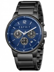 Esprit ES1G025M0085 Equalizer Blue Black MB Herrenuhr Edelstahl Chrono