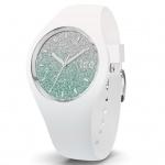 Ice-Watch 013430 Ice-Lo White türkis medium Uhr Silikon Weiß
