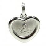 Basic Silber 22.202 Kinder Anhänger Schutzengel Herz Silber