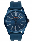 Boss Orange 1550046 DUBLIN Uhr Herrenuhr Kautschuk Datum Blau