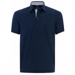 Eterna Herren Shirt Polohemd 2203/18/U577 Comfort Fit Blau Gr. L/42