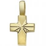 Basic Gold TG15 Kinder Anhänger Kreuz 14 Karat (585) Gelbgold