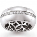 GOOIX 943-3360 Damen Ring Silber mit Zirkonia weiß Größe 56 (17, 8 mm)