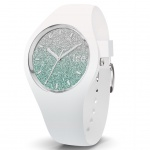 Ice-Watch 013430 Ice-Lo White türkis medium Uhr Silikon Weiß