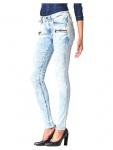 G-Star Damen Jeans Hose Davin Zip High Super Skinny Blau Gr. 26W / 34L