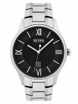 Hugo Boss 1513488 GOVNR Uhr Herrenuhr Lederarmband Datum Silber