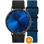 Ice-Watch Ice-City Durham Uhr Damenuhr Lederarmband schwarz