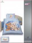 Dobnig Kinder Renforcé Bettwäsche 2tlg. NICI Bären Blau 100x135 cm