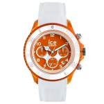 Ice-Watch 014221 ICE dune white orange red Large CH Uhr Datum Weiß