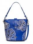 Desigual Damen Handtasche Tasche Henkeltasche ATTALEA CARACAS Blau