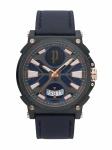 POLICE PL.15407JSU/03 PARKSLEY Uhr Herrenuhr Lederarmband Datum Blau