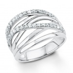 s.Oliver 9031184 Damen Ring Sterling-Silber 925 Silber Weiß 52 (16.6)
