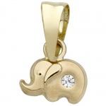 Basic Gold TG28 Kinder Anhänger Elefant 14 Karat (585) Gelbgold