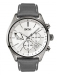 Hugo Boss 1513633 GRAND Chronograph Uhr Herrenuhr Leder Datum Grau