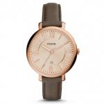 Fossil ES3707 JACQUELINE Uhr Damenuhr Lederarmband Datum schlamm rosé